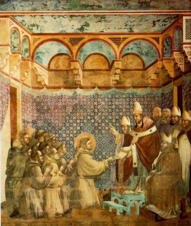 Legend of St Francis - Confirmation of the Rule