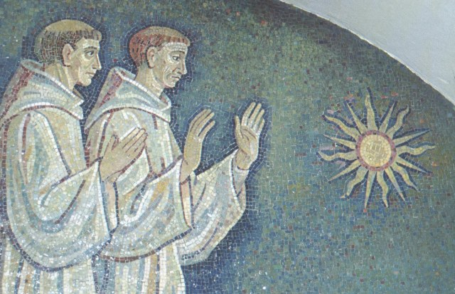 Irish Monks worshipping the Sun
